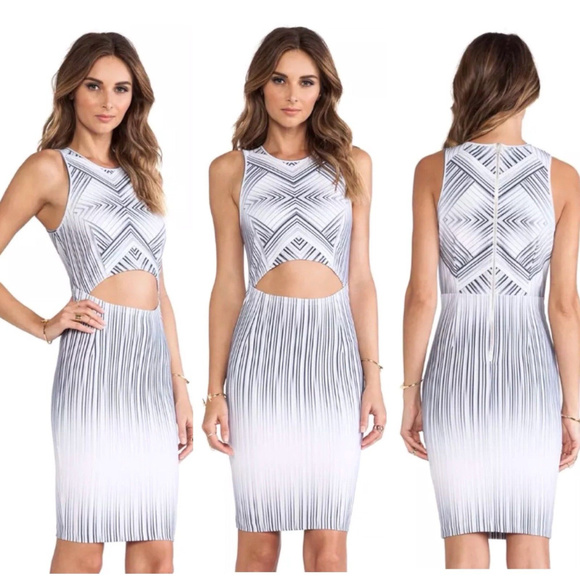 Torn by Ronny Kobo Dresses & Skirts - Torn Ronny Kobo Yonal Maze Cut Out Body Con Dress